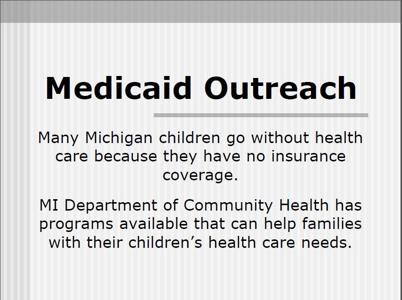 Medicaid Outreach